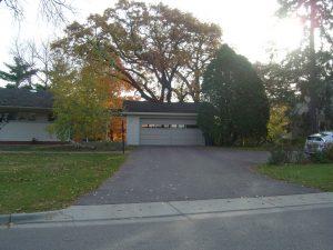 Before - garage exterior