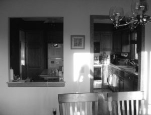 Before – Enclosed Kitchen from Dining Room