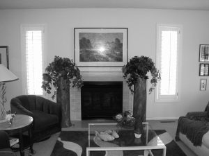 Before – Living Room Fireplace